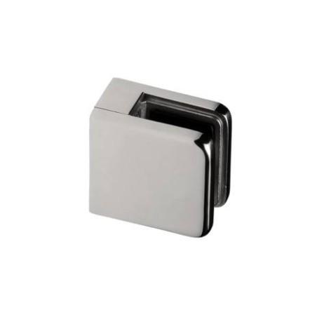 Pinza vidrio CC-720 de acero inoxidable para poste cuadrado de barandilla