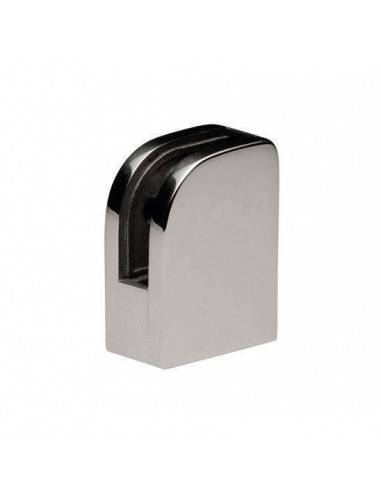 Pinza vidrio CC-750de acero inoxidable para poste cuadrado de barandilla