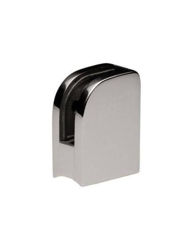 Pinza vidrio CC-751 de acero inoxidable para poste redondo de barandilla