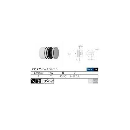 CC-775 - Adaptador para barandillas de vidrio - Instalación