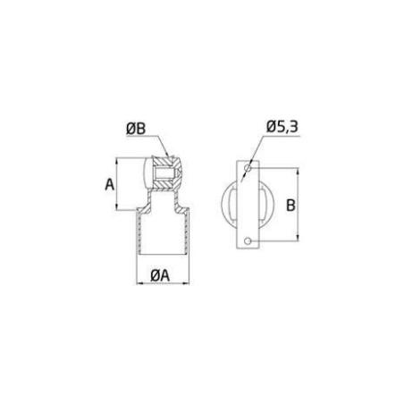 Soporte tubo SA-449 de acero inoxidable