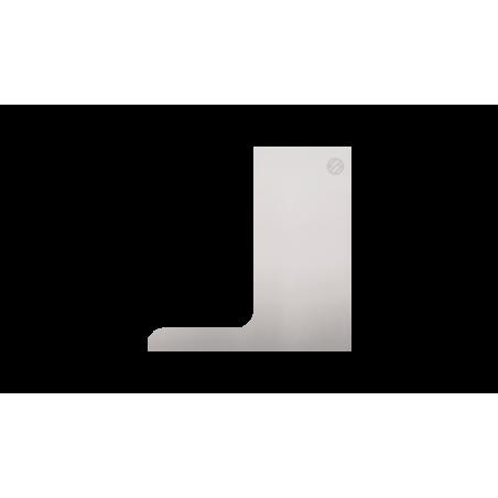 Tapa lateral en aluminio tramos rectos para perfil de barandilla de cristal GlassFit SV-1403