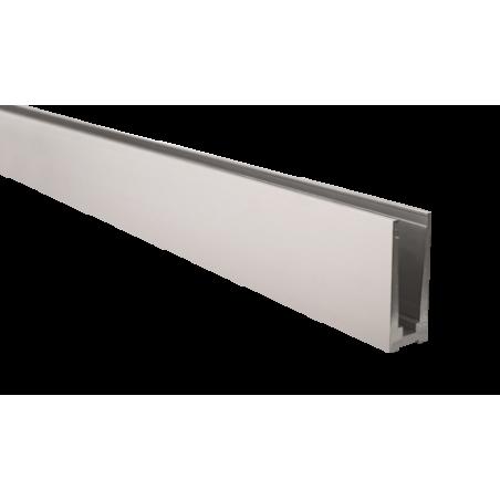 Perfil de suelo montaje superior para sistema de barandilla de vidrio GlassFit SV-1301