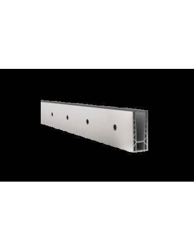 Perfil de suelo montaje lateral para sistema de barandilla de vidrio GlassFit SV-1402