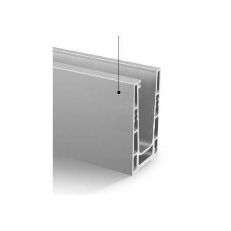 Perfil para suelo en aluminio, Easy Glass Up montaje superior 5000mm