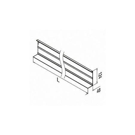Plano Revestimiento, Easy Glass Slim, montaje lateral, aluminio pulido 2500mm