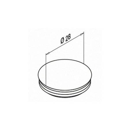Medidas Tapón ciego, Easy Glass Slim & 3kN, montaje lateral