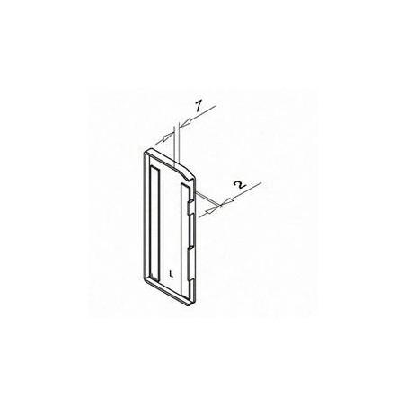 Plano Tapón de acabado, Easy Glass Slim, montaje lateral, para revestimiento de aluminio