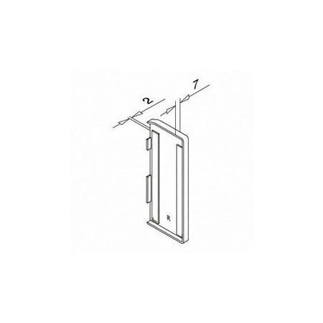 Plano Tapón de acabado, Easy Glass Slim, montaje lateral, en zamac, derecha