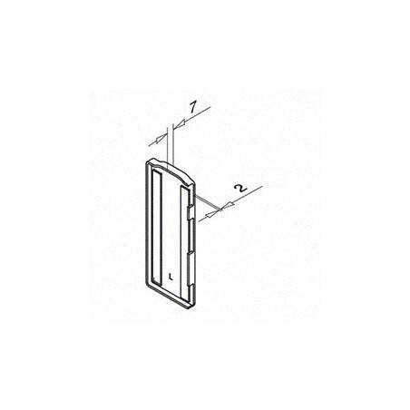 Plano Tapón de acabado, Easy Glass Slim, montaje lateral, Izquierda