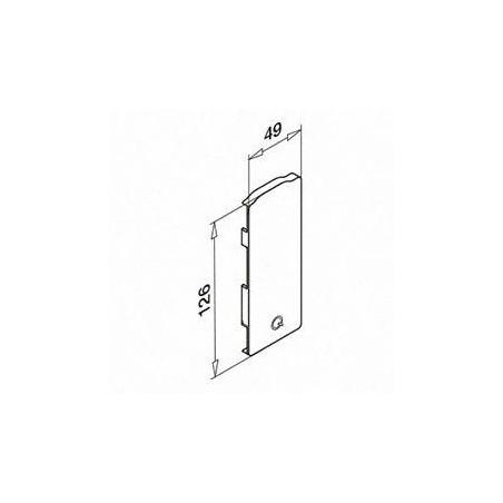 Medidas Tapón de acabado, Easy Glass Slim, montaje lateral, Izquierda