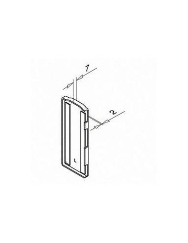 Plano Tapón de acabado, Easy Glass Slim, montaje lateral, Derecha