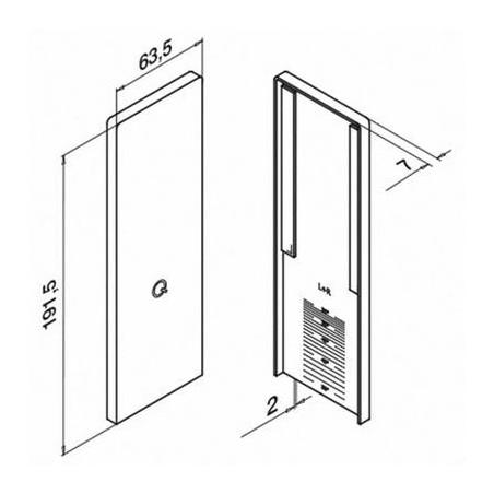 Plano Tapa de acabado para escalera, Easy Glass Smart, montaje superior