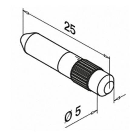 Medidas Tubillones de conexión para bases de barandillas Easy Glass 3005