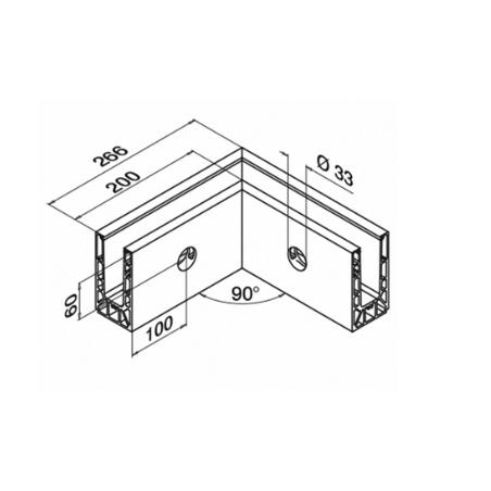 Plano Conectores montaje lateral mod6315 Easy Glass Smart - Interior
