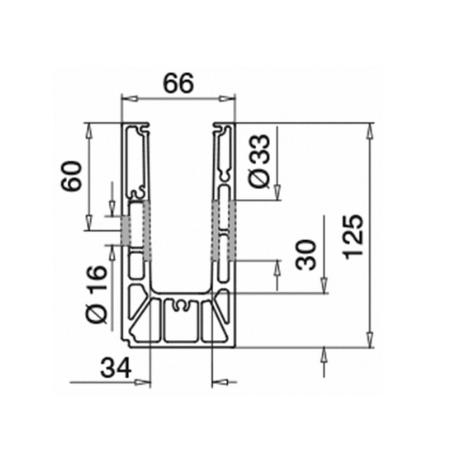 Plano Conector montaje lateral mod6316 - Exterior
