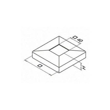 Plano Embellecedor Square Line 40x40mm Mod. 4511 y 4512