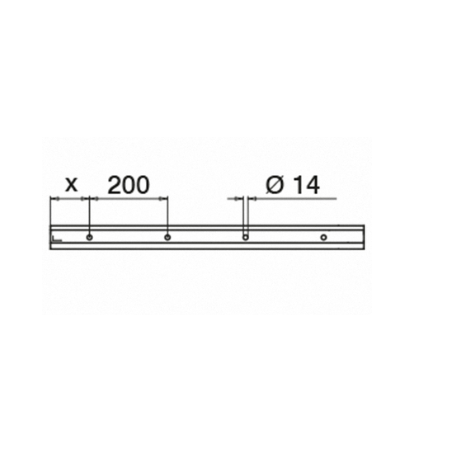 Plano Perfil para suelo montaje superior Mod 6906 Aluminio