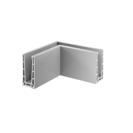 Esquina Interior 90º Easy Glass PRO montaje superior Mod 6313 Aluminio