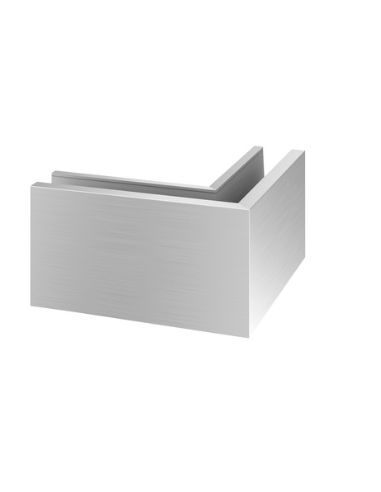 Esquina Exterior 90º Easy Glass PRO montaje superior Mod 6313 Aluminio