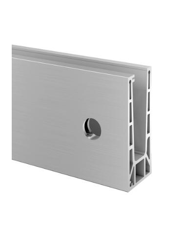 Perfil para suelo montaje lateral Aluminio 6915