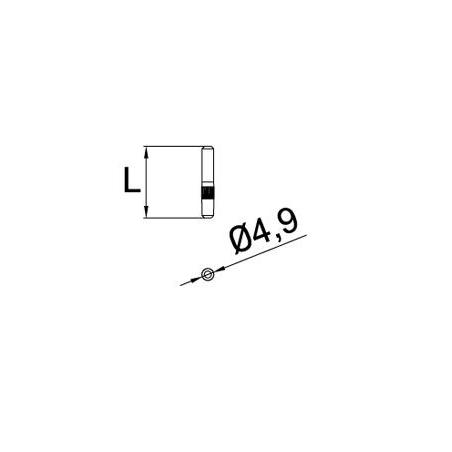 Medidas PM-01 Pin de unión para perfiles de barandillas de cristal GlassFit