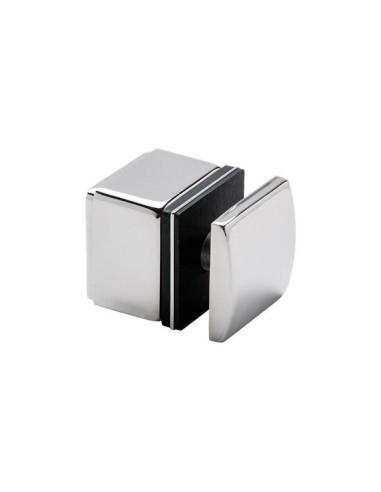 Adaptador lateral vidrio cuadrado cc-772 de acero inoxidable AISI316