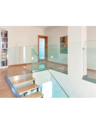 Barandilla de vidrio Glass U Atenea montaje lateral