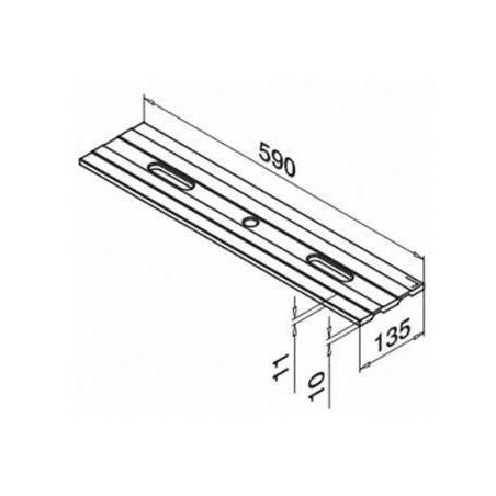 Medidas drenaje para perfil de mmontaje lateral de barandilla de vidrio modelo Easy Glass Pro producto 6948