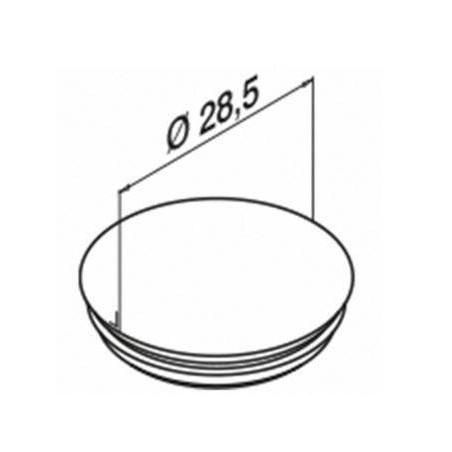 Medida tapón ciego para cubrir agujeros de perfil lateral modelo 6915