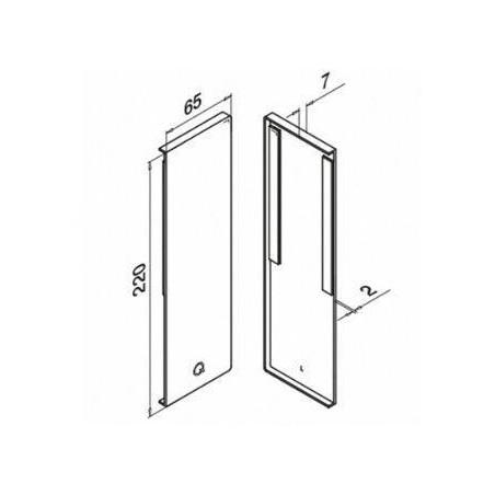 Tapa final izquierda para montaje lateral de perfil Easy Glass Pro Y modelo 6734
