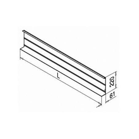 Revestimiento Frontal de longitud 5 metros para perfil Easy Glass Pro Y montaje lateral