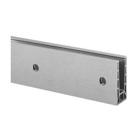 Perfil para suelo  de sistema de barandilla de vidrio montaje lateral modelo Easy Glass Pro Inverse 6911