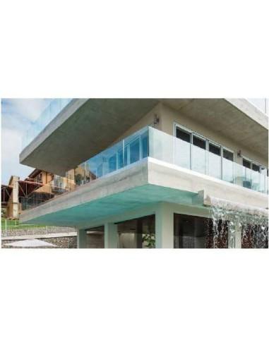 Sistema de barandilla de vidrio modelo glassfit sv-1303 perfil embutido