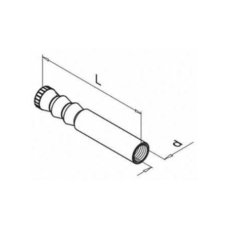 Plano Anclaje roscado interiormente 4512 para barandilla de vidrio Easy Glass Max montaje superior