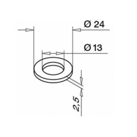 medidas de arandela  para tornillo 4512 de fijación para sistema de barandillas de vidrio Easy Glass Max