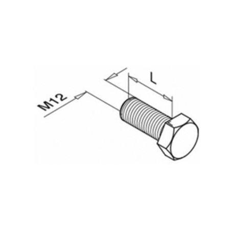 Plano Tornillo hexagonal 0661 de fijación para sistema de barandillas
