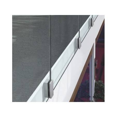 adaptador para vidrio con soporte a pared y suelo