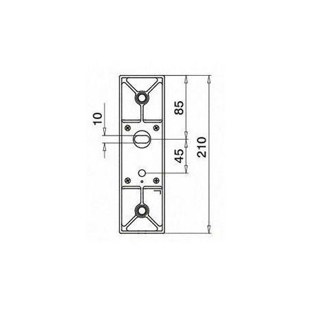Plano Adaptador para vidrio con base de soporte a pared 4762