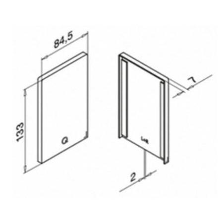 Plano Terminal 6734 para perfil Easy Glass Max Aluminio
