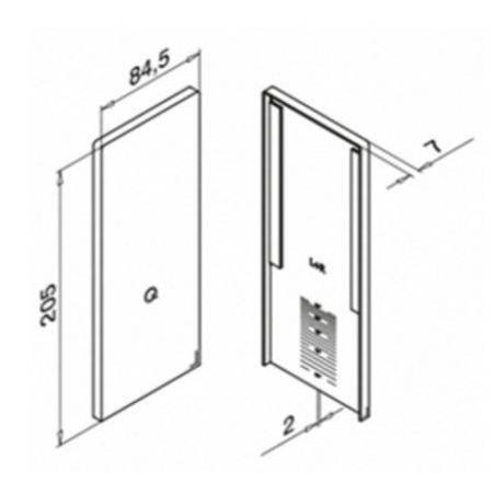 Plano Terminal 6736 para escalera perfil Easy Glass Max Aluminio