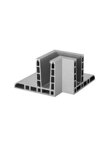 Conector 6313 esquina interior 90º para perfil Easy Glass Max F Aluminio