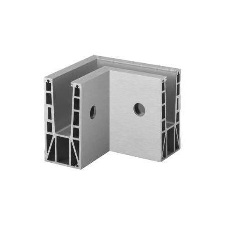 Conector para perfil Easy Glass Max montaje lateral, esquina interior 90º
