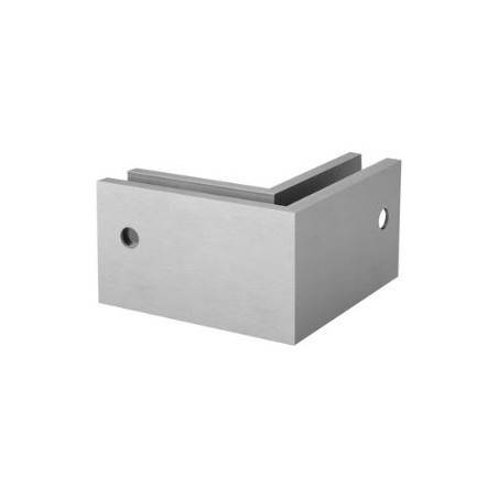 Conector 6316 esquina exterior 90º para perfil Easy Glass Max montaje lateral - Aluminio