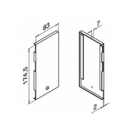Plano Terminal izquierdo para Easy Glass Max 6734