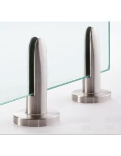 pinza al siuelo modelo 61 de acero inoxidable para sistema de barandilla de vidrio sin poste