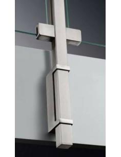 Barandilla poste cuadrado con pinzas de vidrio de montaje lateral con soporte de balaustre
