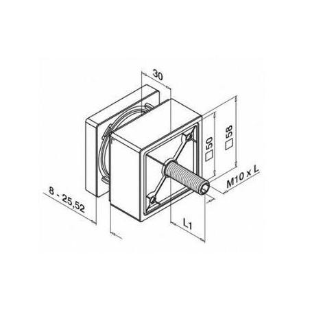 información de montaje de adaptador para vidrio