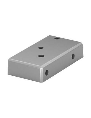 Base para postes de barandilla de aluminio 9026 Izquierdo montaje superior