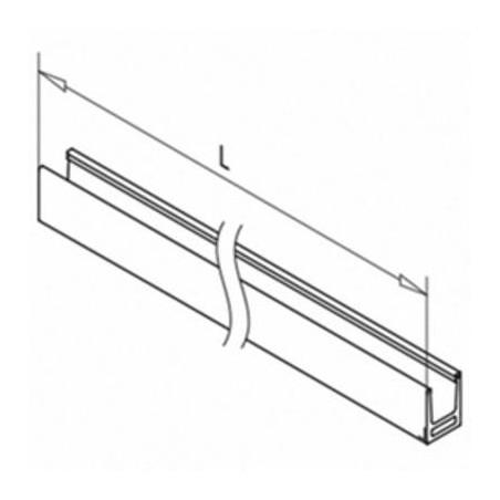 Plano Perfil para suelo montaje superior Mod 6919 en aluminio